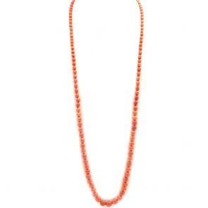 Collana antica di corallo rosso