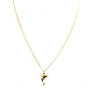 Ciondolo pesce oro giallo - 0.65 gr; 2 cm