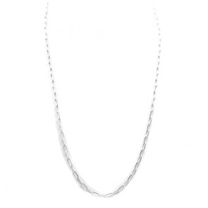Collana catena uomo  argento bianco