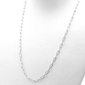 Collana catena uomo  argento bianco - 60 cm; 11.36 gr