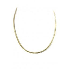 Collana catena maglia tubo gas argento dorato