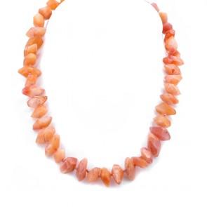 Collana sassi di agata arancio