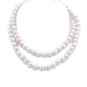 Collana lunga 90 cm di perle d'acqua dolce