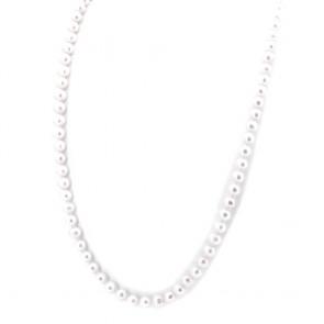 Collana lunga 90 cm di perle d'acqua dolce -9-11 mm- e argento - 128.26 gr