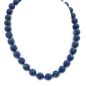 Collana di azzurrite-malachite