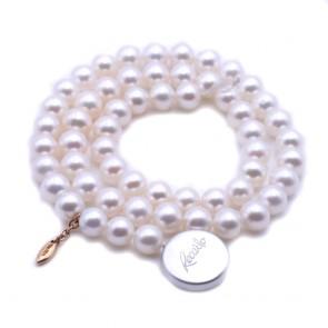 Collana sfusa Re Carlo da 40 cm di perle giapponesi - 7 mm
