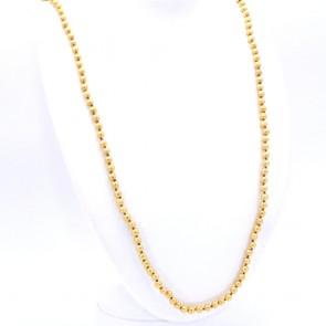 Collana endless, a boulle di 6 mm - lavorate a foglia oro.  24.57 gr; 118 cm