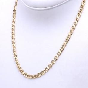 Collana catena uomo oro, maglia marinara piatta - 50 cm; 39.83 gr