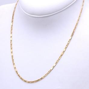 Collana catena uomo oro, maglia 2+2 - 50 cm; 11.78 gr