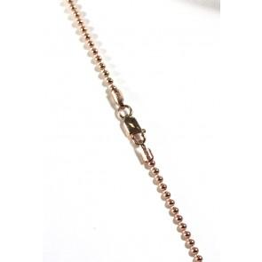 Catenina palline argento rosa