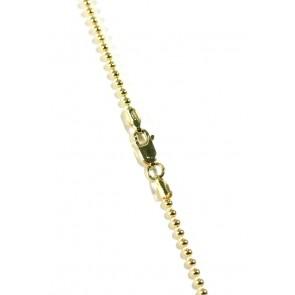 Catenina palline argento dorato