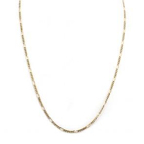 Collana catena uomo maglia 3+1 oro - 51 cm