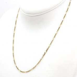 Collana catena uomo maglia 3+1 oro - 51 cm; 6.94 gr