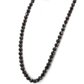 Collana granato e argento - 118 gr; 70cm