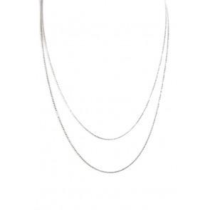 Catenina palline argento - 100 cm; 4 gr