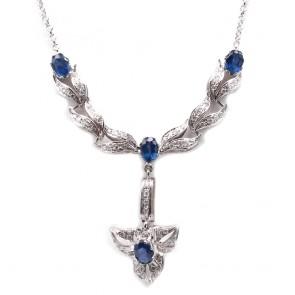 Collier oro, zaffiri - 4.6 ct - e diamanti