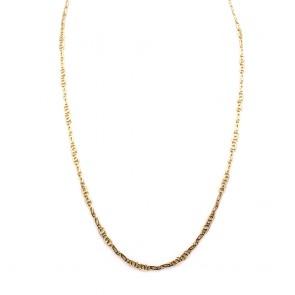 Collana catena uomo maglia classica curva oro