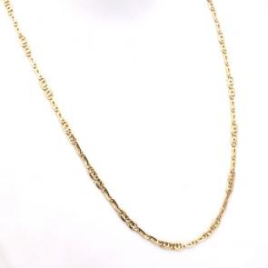 Collana catena uomo maglia classica curva oro - 60 cm; 19.38 gr