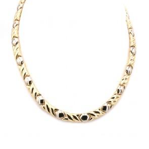 Collana Chimento girocollo bicolore oro