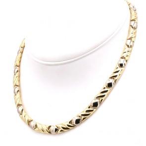 Collana Chimento girocollo bicolore oro -  45 cm; 32.9 gr