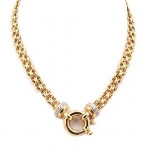 Collana catena girocollo oro con maxi moschettone