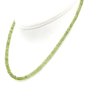 Collana peridoti e argento - 17.17 gr; 47 cm
