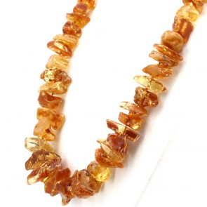Collana ambra sassi semi-grezzi, 1.2-3.8 cm - 65 cm; 152.4 gr