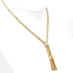 Collana UNOAERRE treccia bicolore oro -  44 cm; 27 gr
