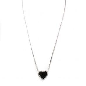 Ciondolo cuore oro e diamanti - 0.70-0.80 ct - 2.4 cm x 2.4 cm; 19.45 gr.