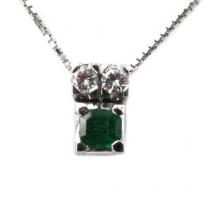 Ciondolo  oro, smeraldo e diamanti