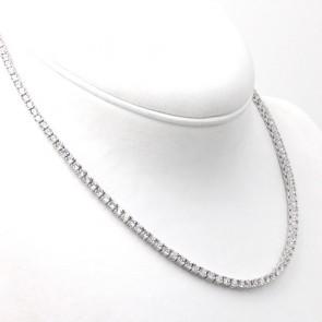 Collana tennis argento e zirconi; 24.64 gr