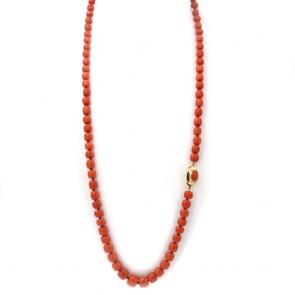 Collana di corallo rosso salmonato