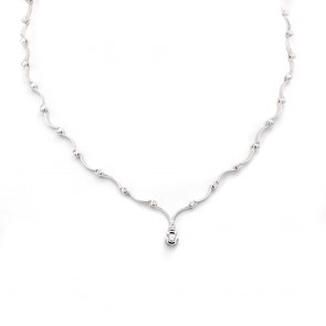 Collana girocollo Re Carlo oro e diamanti con solitario centrale - 0.15-0.20 ct- 40 cm, 15.3 gr