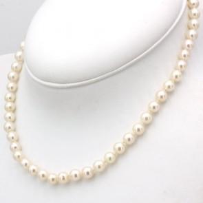 Collana da 40 cm di perle giapponesi - 7 mm- chiusura in stile oro; 30 gr