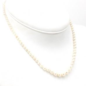 Collana da 40 cm di perle giapponesi - 7 mm- chiusura in stile argento; 40 cm