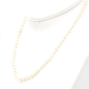 Collana da 50 cm di perle giapponesi - 4-8 mm- chiusura in stile oro; 19 gr