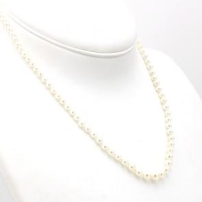 Collana da 48 cm di perle giapponesi - 3-7 mm- chiusura in stile oro; 14.2 gr