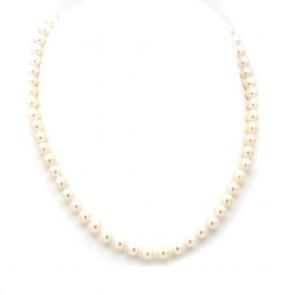 Collana da 44 cm di perle giapponesi chiusura in stile oro