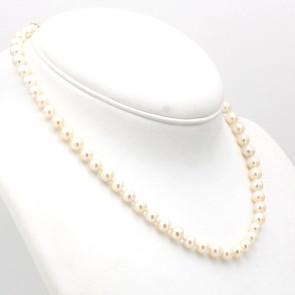 Collana da 44 cm di perle giapponesi - 7 mm- chiusura in stile oro; 32 gr