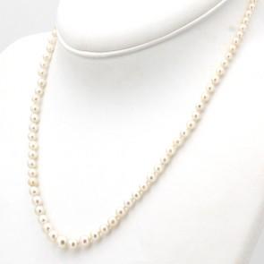 Collana da 48 cm di perle giapponesi - 3-7 mm- chiusura in stile oro; 13.7 gr