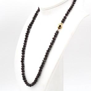 Collana antica, in stile, granato e oro - 93.6 gr; 70 cm