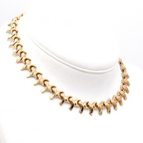 Collana collier in stile oro, vintage. 32 gr