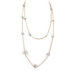 Collana catena oro e opali