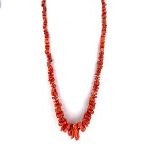 Collana corallo rosso etnico