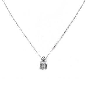 Ciondolo punto luce geometrico oro e diamanti - 0.10-0.12 ct; 3.58 gr