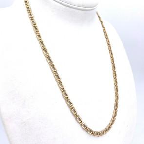 Collana catena uomo oro, maglia curva - 61 cm; 19.7 gr