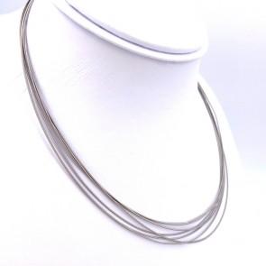 Collana/collier Bicego, 7 fili oro - 41.5 cm; 11.5 gr