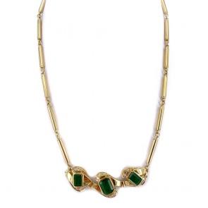 Collier oro, smeraldi