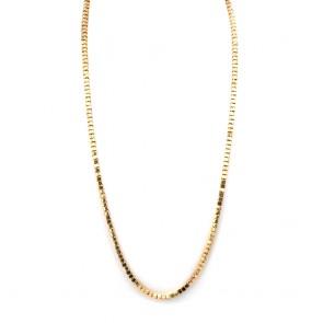 Collana catena oro, maglia cubetti