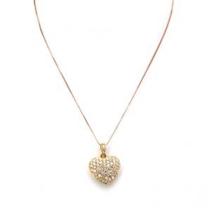 Ciondolo cuore capolavoro oro e diamanti - 1.90-2.10 ct - 3 cm x 2.2 cm; 7.6 gr.